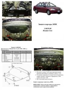 Защита двигателя Honda Civic 7 - фото №6