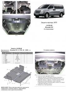 Защита двигателя Hyundai H1 - фото №17 + 1 + 1