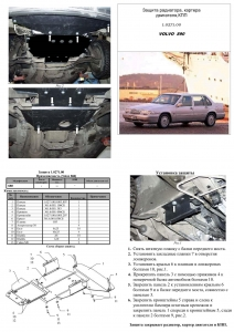 Защита двигателя Volvo 960 - фото №5
