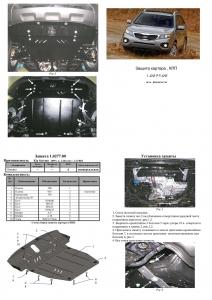 Защита двигателя Kia Sorento 2 - фото №12