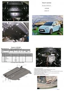 Защита двигателя Citroen C3 1 - фото №7 + 1