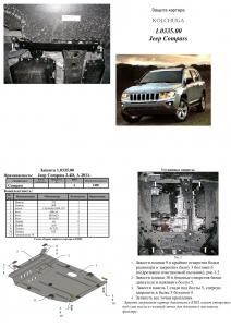 Защита двигателя Jeep Compass 1 - фото №7