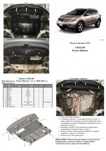 Защита двигателя Nissan Murano - фото №7 + 1