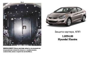 Защита двигателя Hyundai Elantra 5 F/L - фото №4