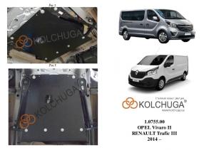 Захист двигуна Renault Trafic 3 - фото №5 + 1 + 1