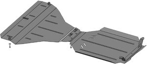 Защита двигателя Subaru Legacy 4 - фото №9