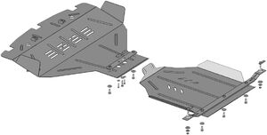 Защита двигателя Subaru Legacy 4 - фото №7