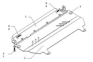 Защита двигателя Citroen C2 - фото №2