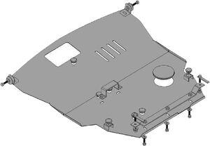 Защита двигателя Mitsubishi Grandis - фото №3