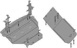 Защита двигателя Infiniti FX 45 - Фото №1