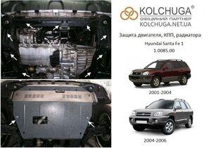 Защита двигателя Hyundai Santa Fe 1 - фото №1