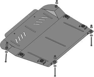 Защита двигателя Lexus RX 400 - фото №3