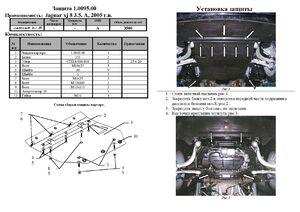 Защита двигателя Jaguar XJ8 - фото №2