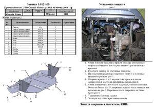 Защита двигателя Fiat Grande Punto - фото №3