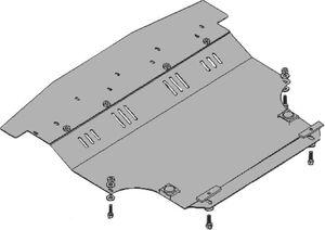 Защита двигателя Nissan Tiida (Versa) - фото №3