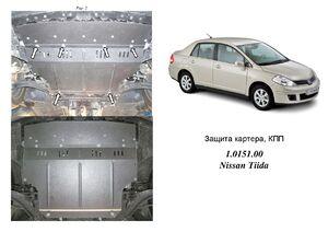 Защита двигателя Nissan Tiida (Versa) - фото №1