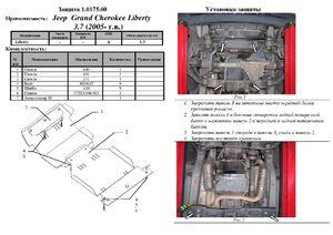 Защита двигателя Jeep Liberty - фото №2