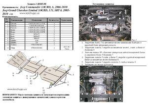 Защита двигателя Jeep Limited - фото №2