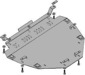 Защита двигателя Honda CR-V 3 - фото №5