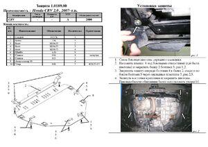 Захист двигуна Honda CR-V 3 - фото №2