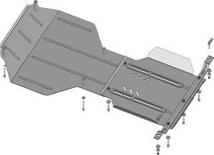 Защита двигателя Subaru Forester 3 SH - фото №9