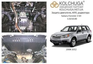 Защита двигателя Subaru Forester 3 SH - фото №1