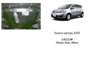 Защита двигателя Nissan Note 1 - фото №5