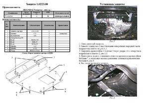 Защита двигателя Hyundai Veracruz (ix55) - фото №2