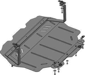 Защита двигателя Audi A3 8P - фото №4