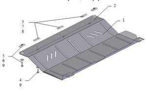 Защита двигателя Citroen Jumpy 3 - фото №2
