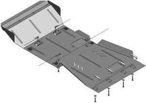 Защита двигателя Nissan Pathfinder 3 - фото №3