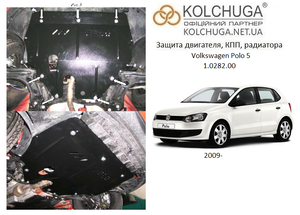 Защита двигателя Volkswagen Polo 5 - фото №1