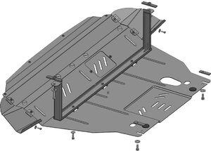 Защита двигателя Hyundai ix35 - фото №5