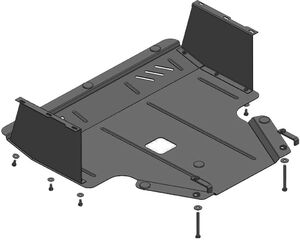 Защита двигателя Kia Venga - фото №3
