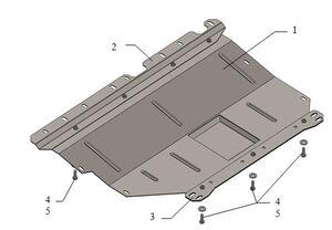 Защита двигателя Fiat Doblo 2 - фото №2