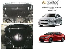 Захист двигуна Hyundai Accent 4 (Solaris) - фото №1
