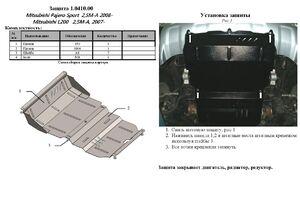 Защита двигателя Mitsubishi Pajero Sport 2 - фото №2