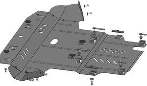 Защита двигателя Volkswagen Passat B5 - фото №5