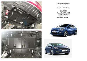 Защита двигателя Kia Ceed 2 - фото №3