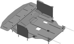 Защита двигателя Hyundai i-40 - фото №4