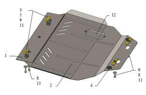 Защита двигателя Citroen Berlingo 1 рестайлинг - фото №6