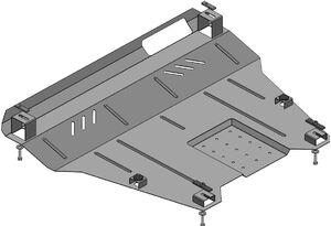 Защита двигателя Ford Explorer 5 - фото №2