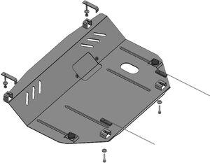 Защита двигателя Nissan Note 1 - фото №8