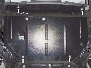 Защита двигателя Nissan Versa Note - фото №2