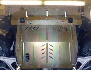 Защита двигателя Nissan Murano 3 (Z52) - фото №4