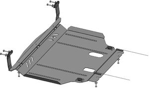 Защита двигателя Ford Fiesta 7 EcoBoost - фото №3