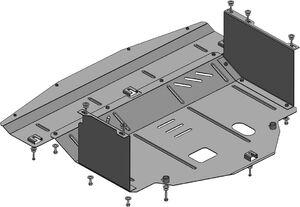 Защита двигателя Kia Carens 4 - фото №3