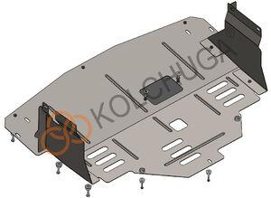 Защита двигателя Renault Master 3 - фото №3