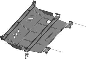 Защита двигателя Peugeot 208 - фото №3