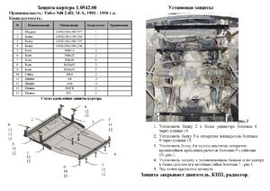 Защита двигателя Volvo 940 - фото №4